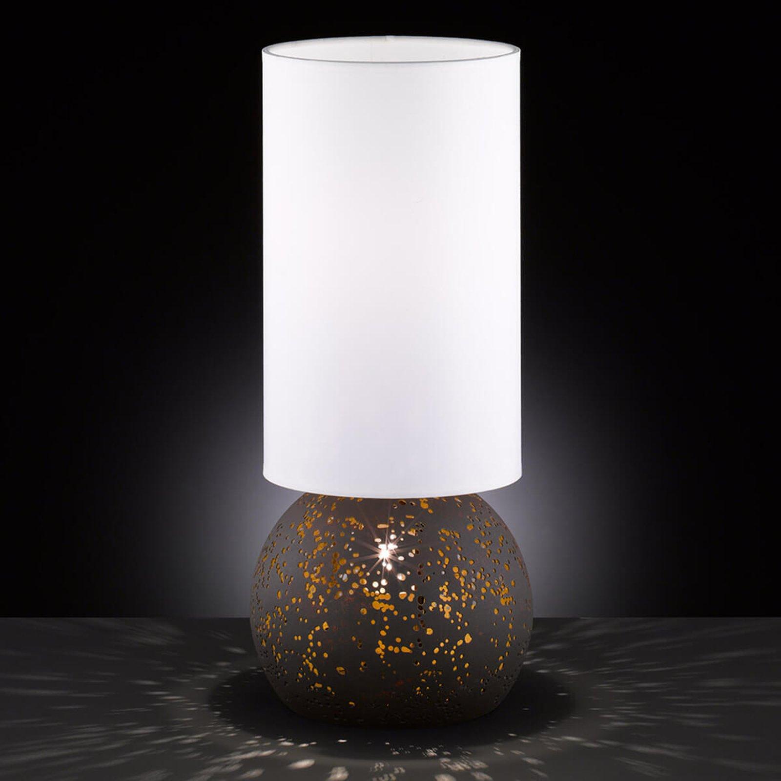 Bordlampe Avila med perforert fot