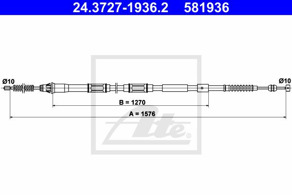 Käsijarruvaijeri ATE 24.3727-1936.2