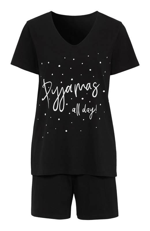 Cellbes Pyjamas Svart Prickig