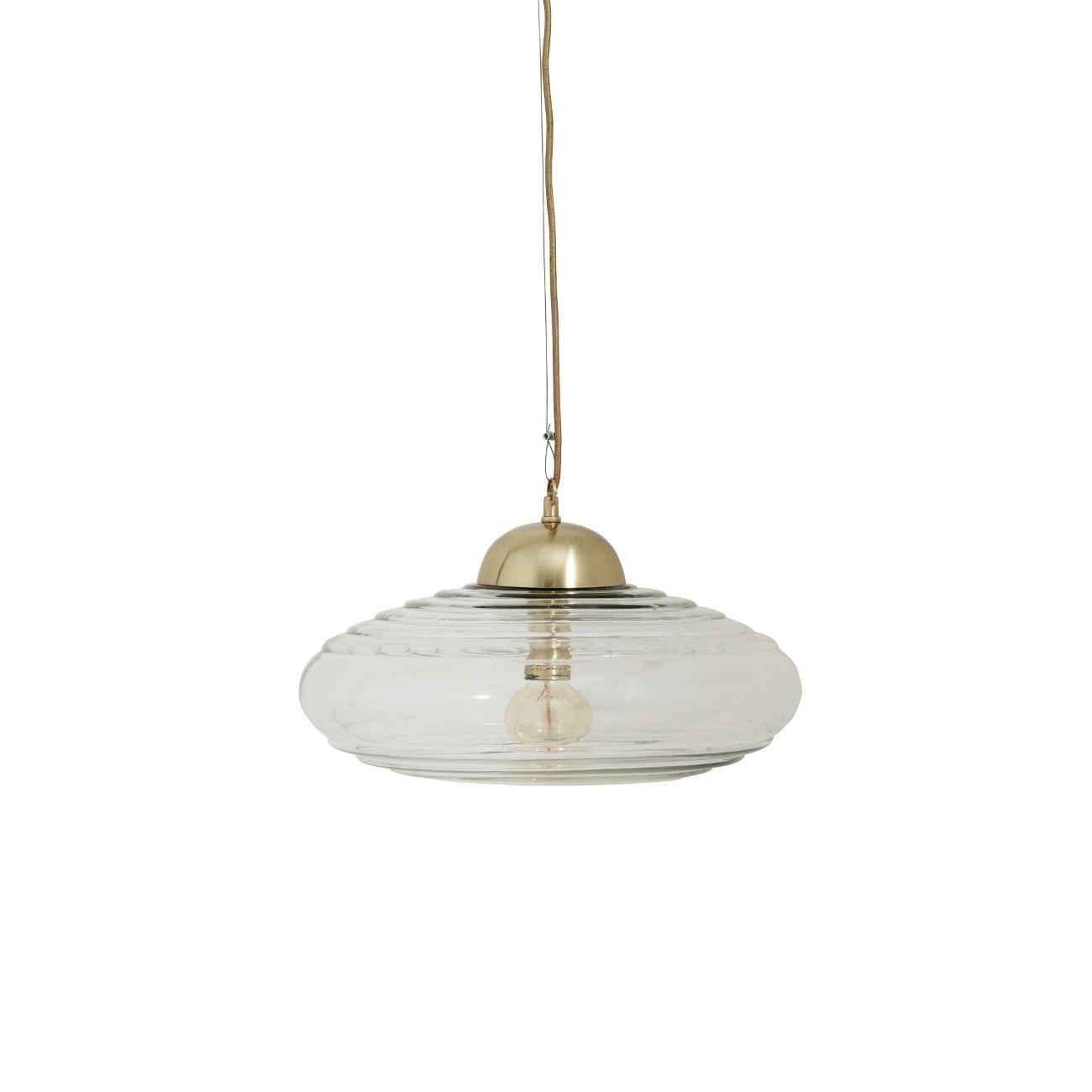 DISC stor vintage glaslampa, Nordal