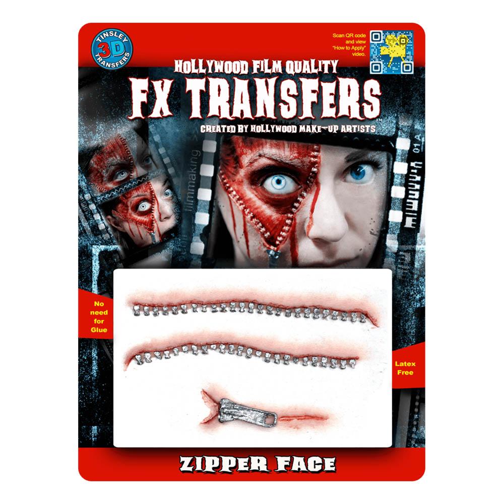 FX Transfers Zipper Face 3D