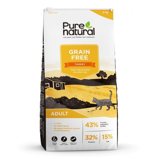 Purenatural Cat Grain Free Adult Turkey (2 kg)