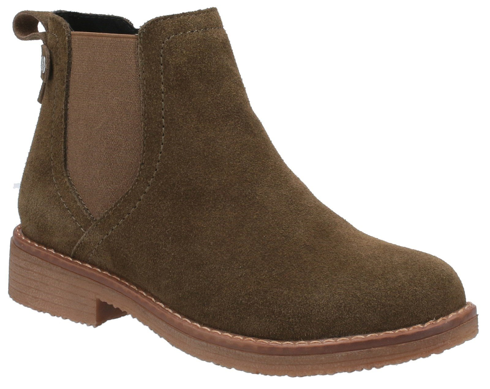 Hush Puppies Women's Maddy Ladies Ankle Boots Various Colours 31214 - Khaki 3