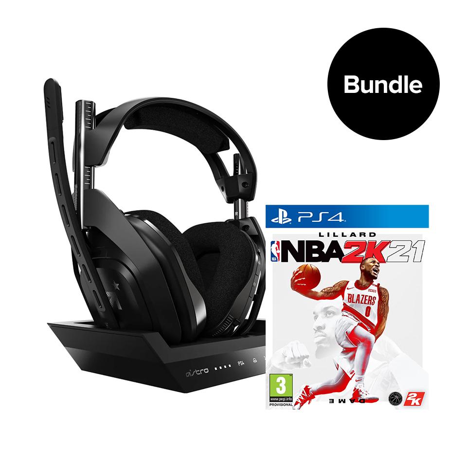 ASTRO A50 Wireless + Base Station & NBA 2K21 PS4/PC - Bundle