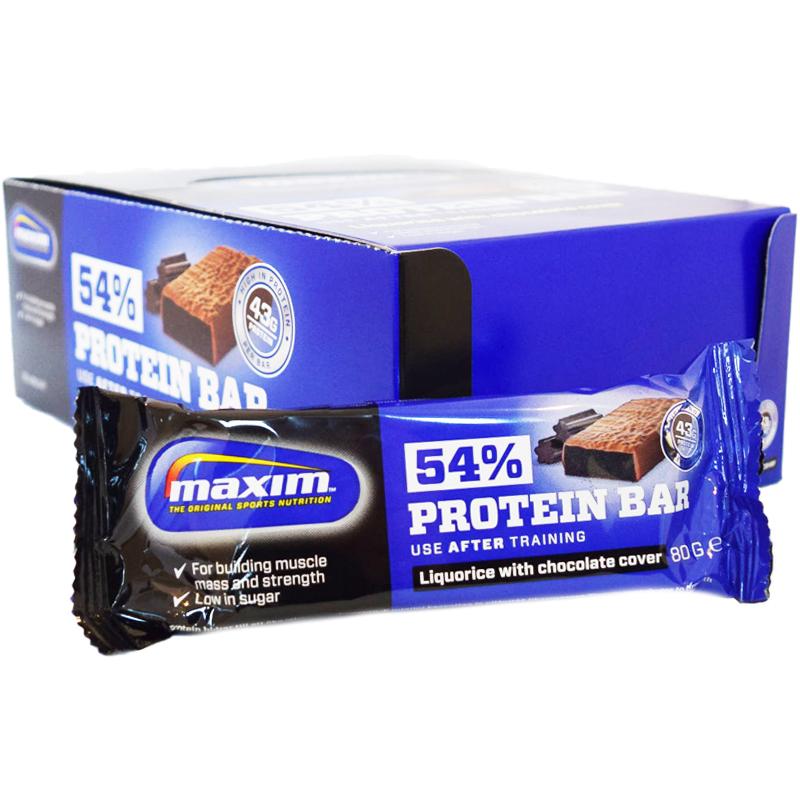 "Hel Låda Proteinbars ""Liquorice & Chocolate"" 20 x 80g - 71% rabatt"