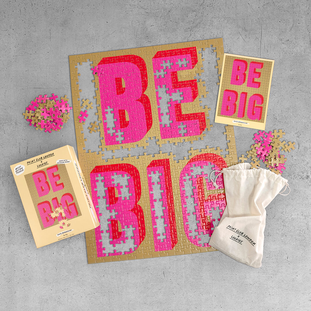 Print Club London x Luckies – Be Big - 500 Pieces Puzzle