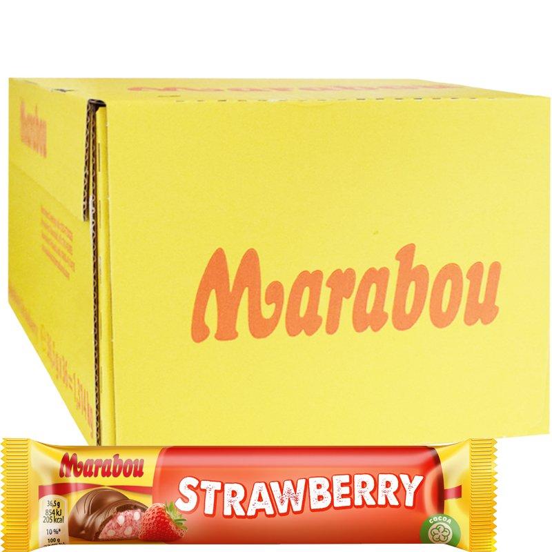 Marabou Mansikka Suklaapatukat 36kpl - 50% alennus