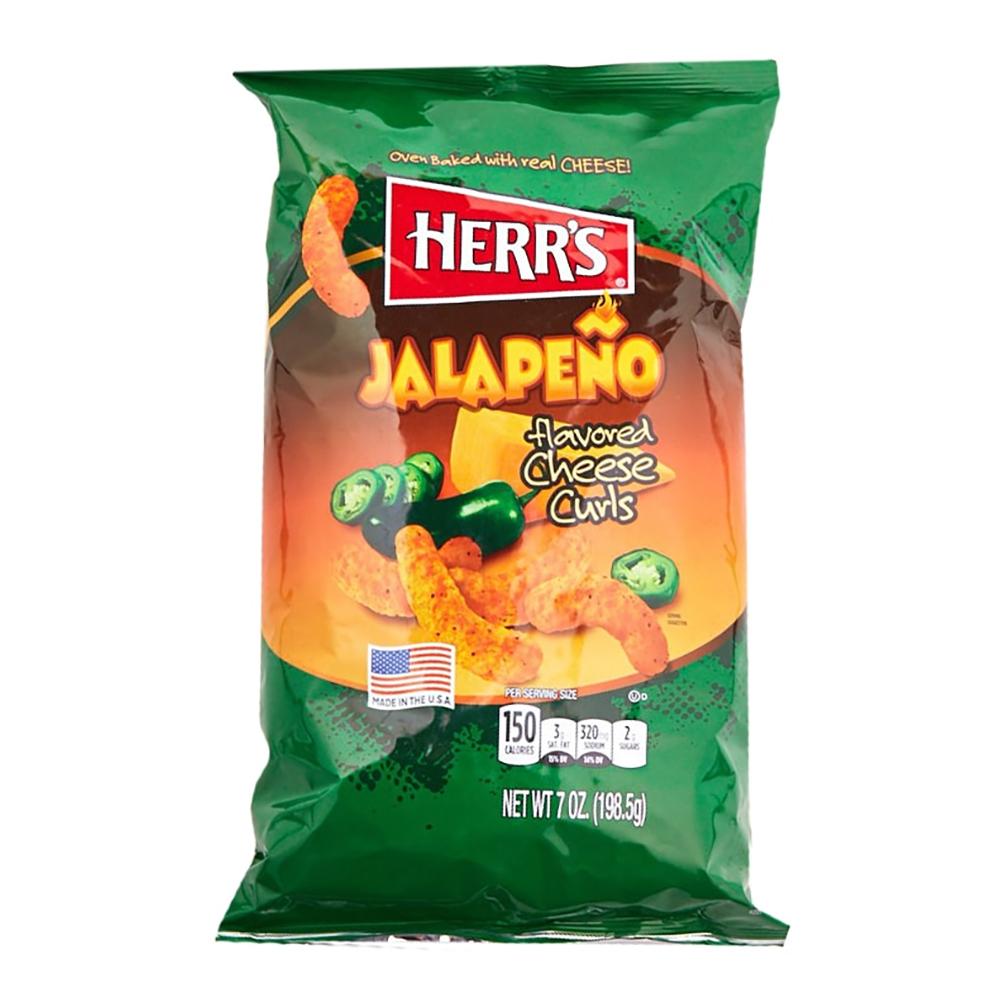 Herr's Jalapeno Cheese Curls - 198 gram