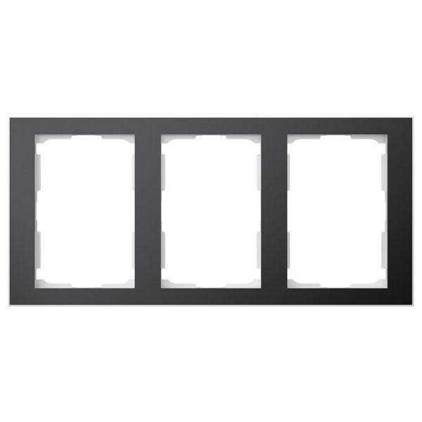 Elko EKO06340 Yhdistelmäkehys musta/alumiini, 1 ½ lokeroa 3 x 1½ lokeroa