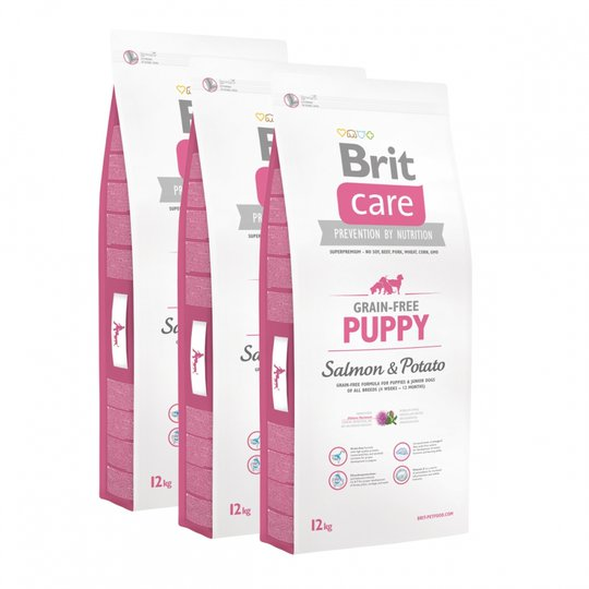 Brit Care Puppy All Breed Grain Free Salmon & Potato 3x12 kg
