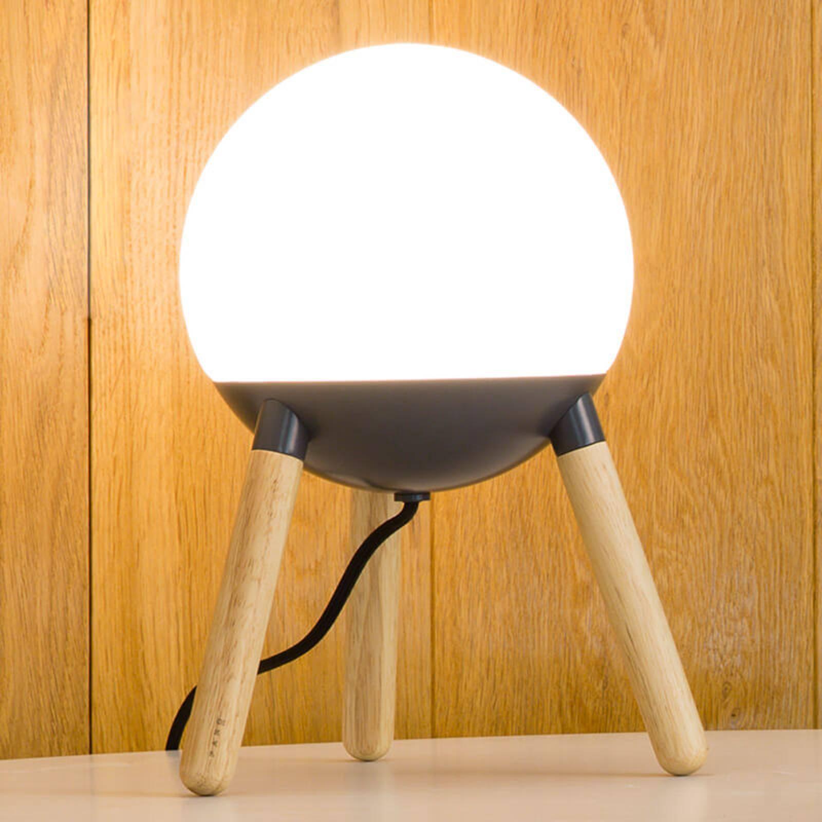 Bordlampe Mine med trebeint stamme