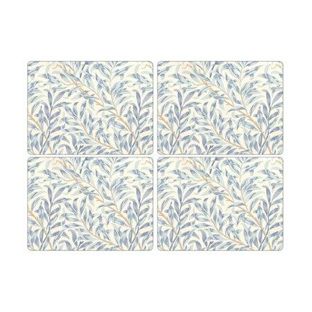 Morris Bordbrikke Willow Bough Blå 4-pakning