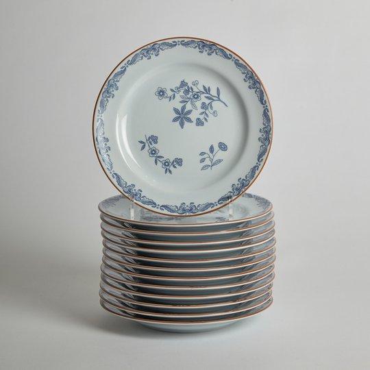 """Rörstrand - SÅLD Assietter """"Ostindia"""" 13 st"""
