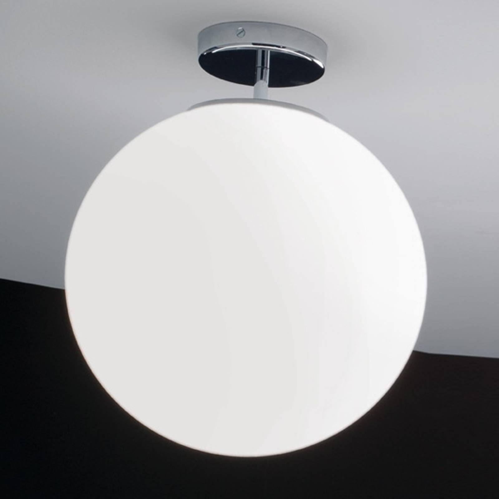Kromfarget Sferis taklampe av glass på 40 cm