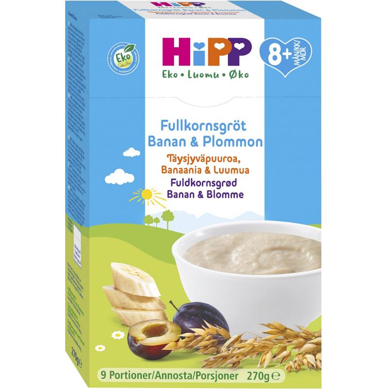 Eko Fullkornsgröt Banan & Plommon 270g - 33% rabatt