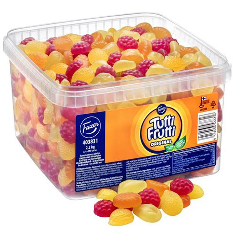 "Karkkilaatikko ""Tutti Frutti Original"" 2,2kg - 20% alennus"