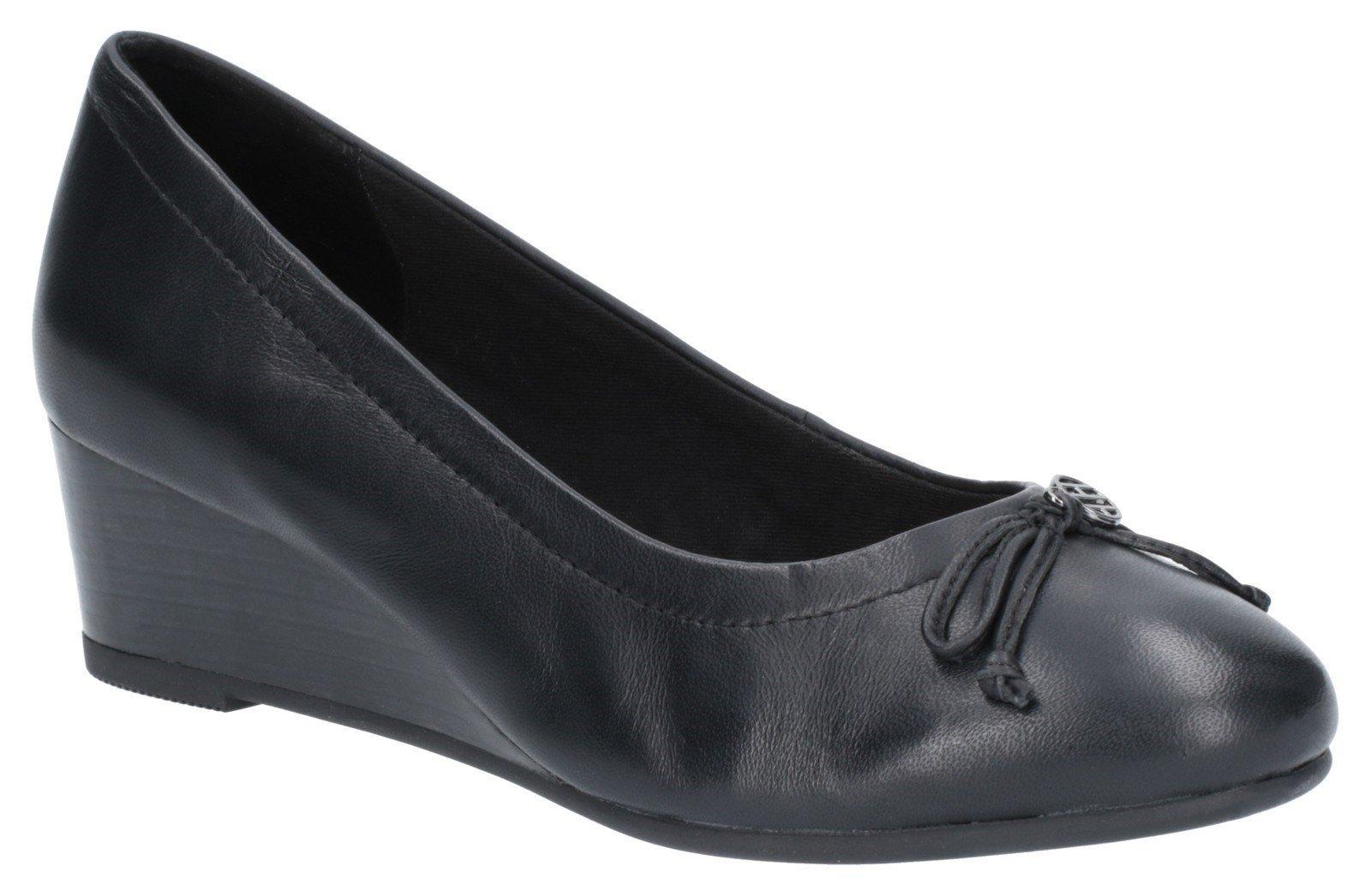 Hush Puppies Women's Morkie Charm Wedge Shoe Black 27380 - Black 3