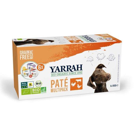 Yarrah Organic Dog MultiPack Paté Grain Free 6 x 150 g