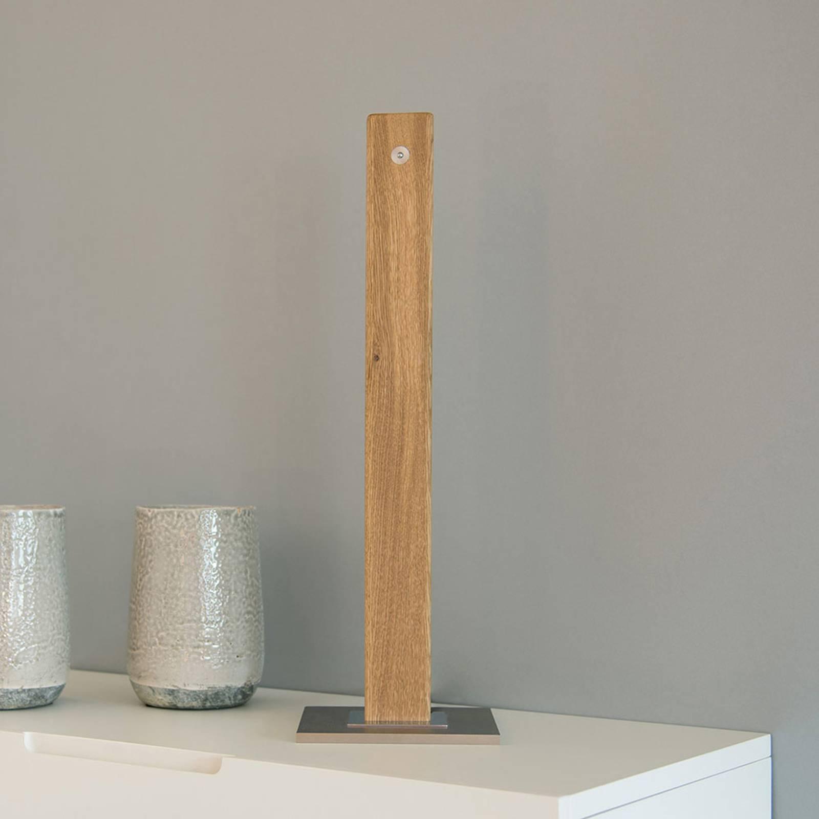 HerzBlut Leonora -LED-pöytälamppu, öljytty tammi