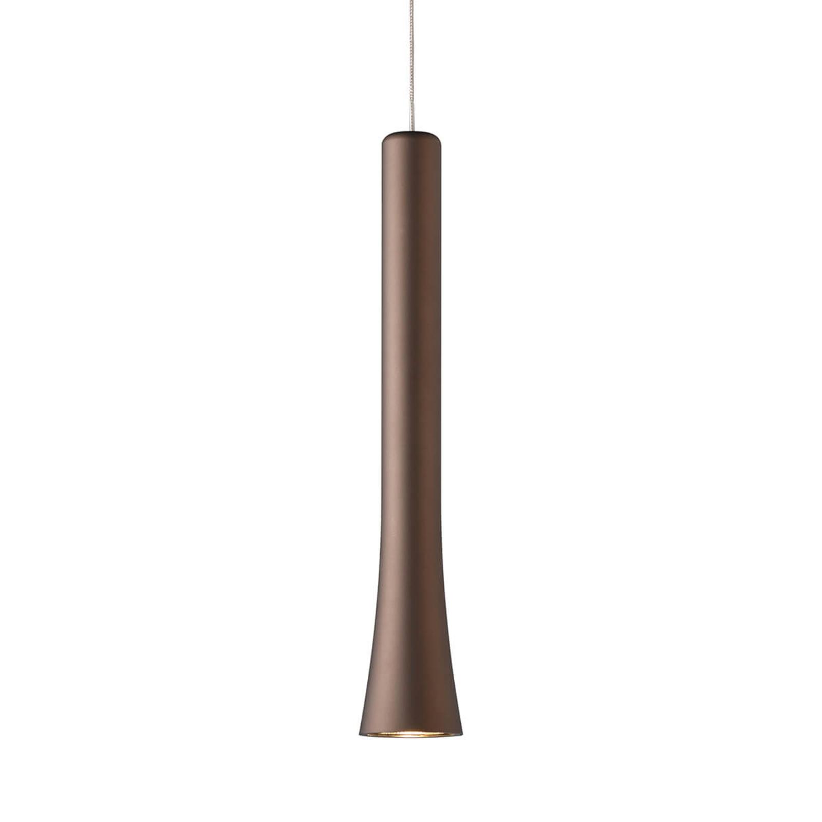 Elegantisti muotoiltu LED-riippuvalaisin Rio rusk.