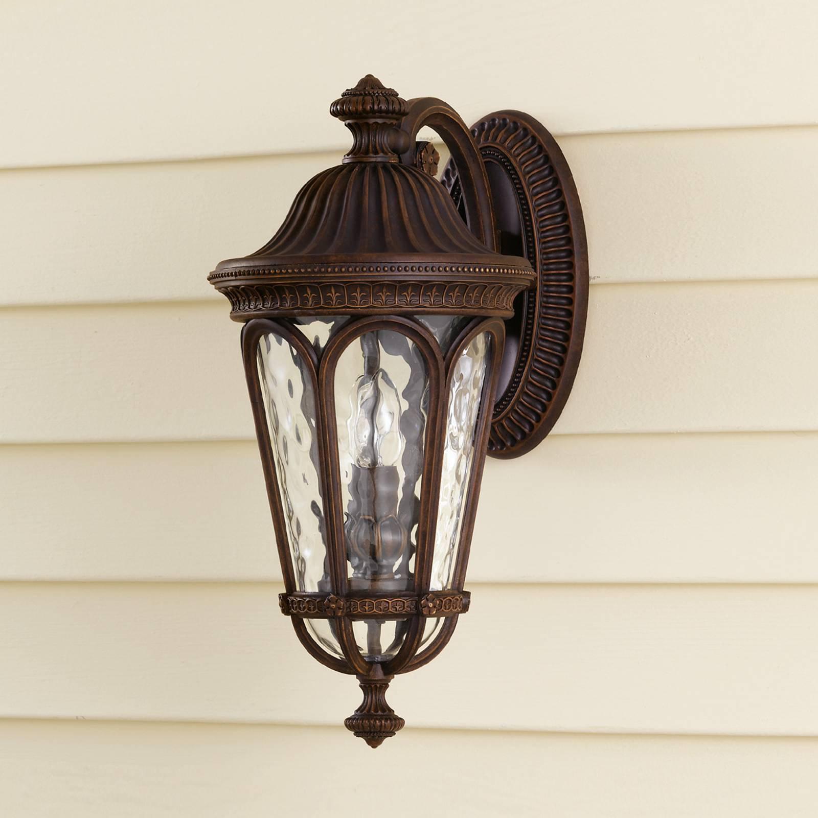 Antikk REGENT COURT utendørs vegglampe med to lys