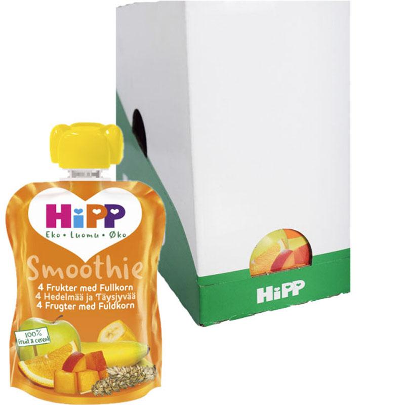 Hel Låda Barnmat Smoothie 4 Frukter 6 x 90g - 57% rabatt