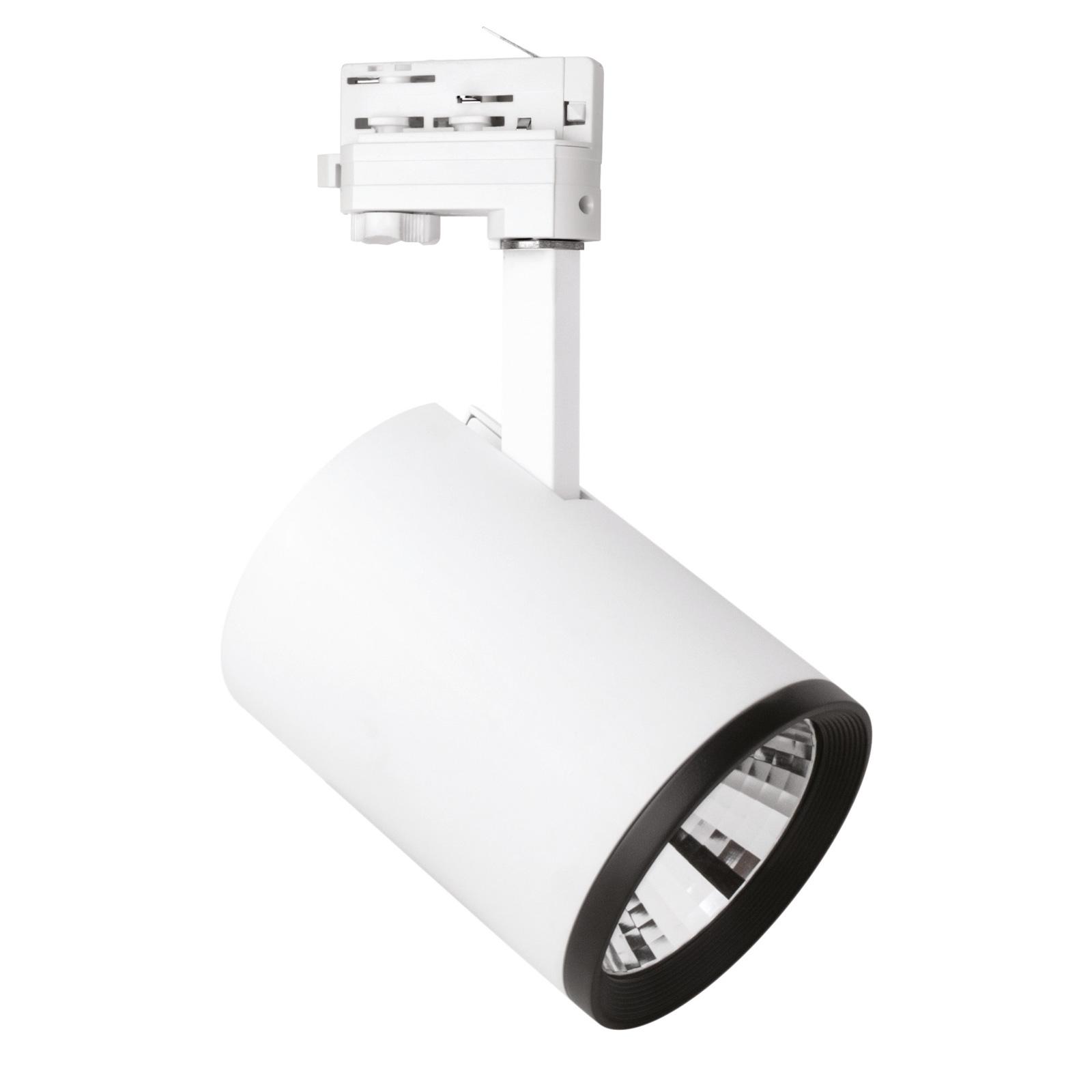 LED-spotti Marco 3-vaihekiskoon, valkoinen 3 000 K