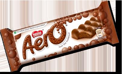 Aero Bubbly Milk Choc Bar 36g