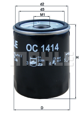 Öljynsuodatin KNECHT OC 1414