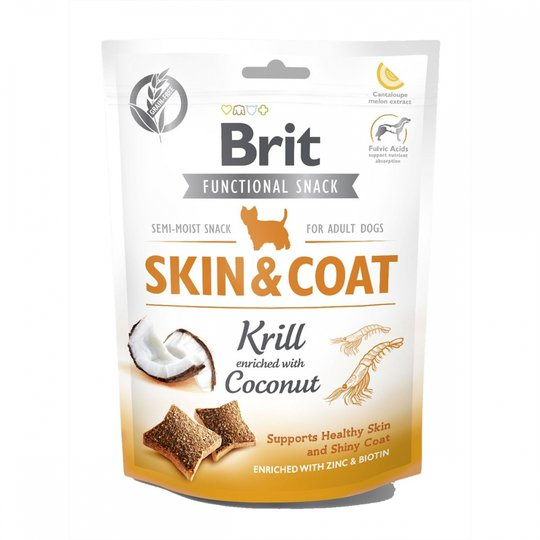 Brit Care Functional Snack Skin &Coat Krill 150 g