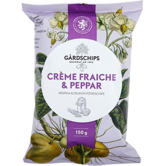 Chips Crème Fraiche & Peppar 150g - 37% rabatt
