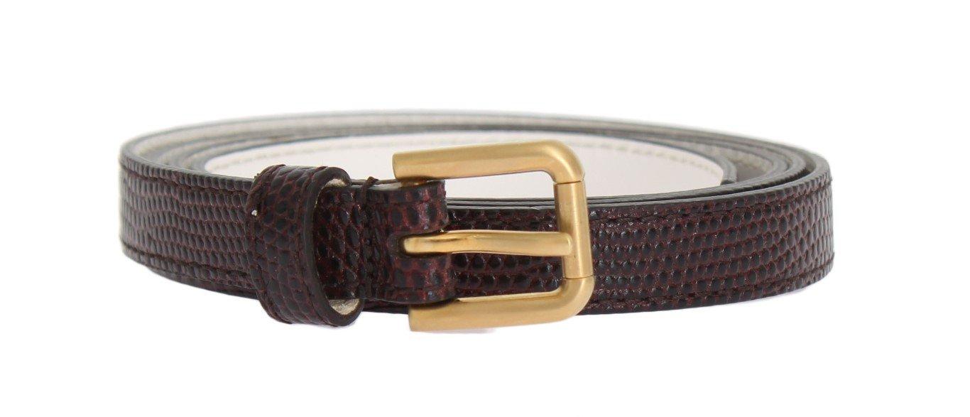Dolce & Gabbana Women's Leather Buckle Belt Bordeaux BEL10363 - 90 cm / 36 Inches