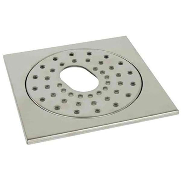 Gelia 3003036142 Flisramme for gulvbrønn, 200 x 200 x 7 mm med utsparing
