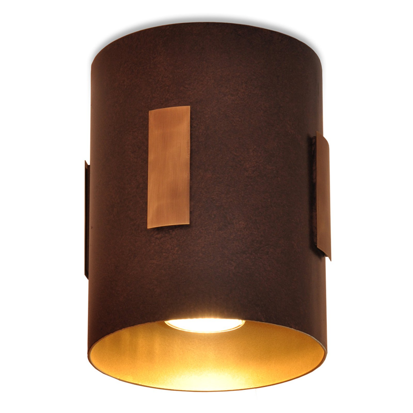 Menzel Solo taklampe brun/svart/gull