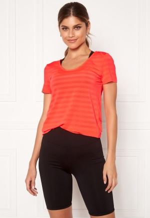 ONLY PLAY Sue V-Neck Training Tee Fiery Coral S