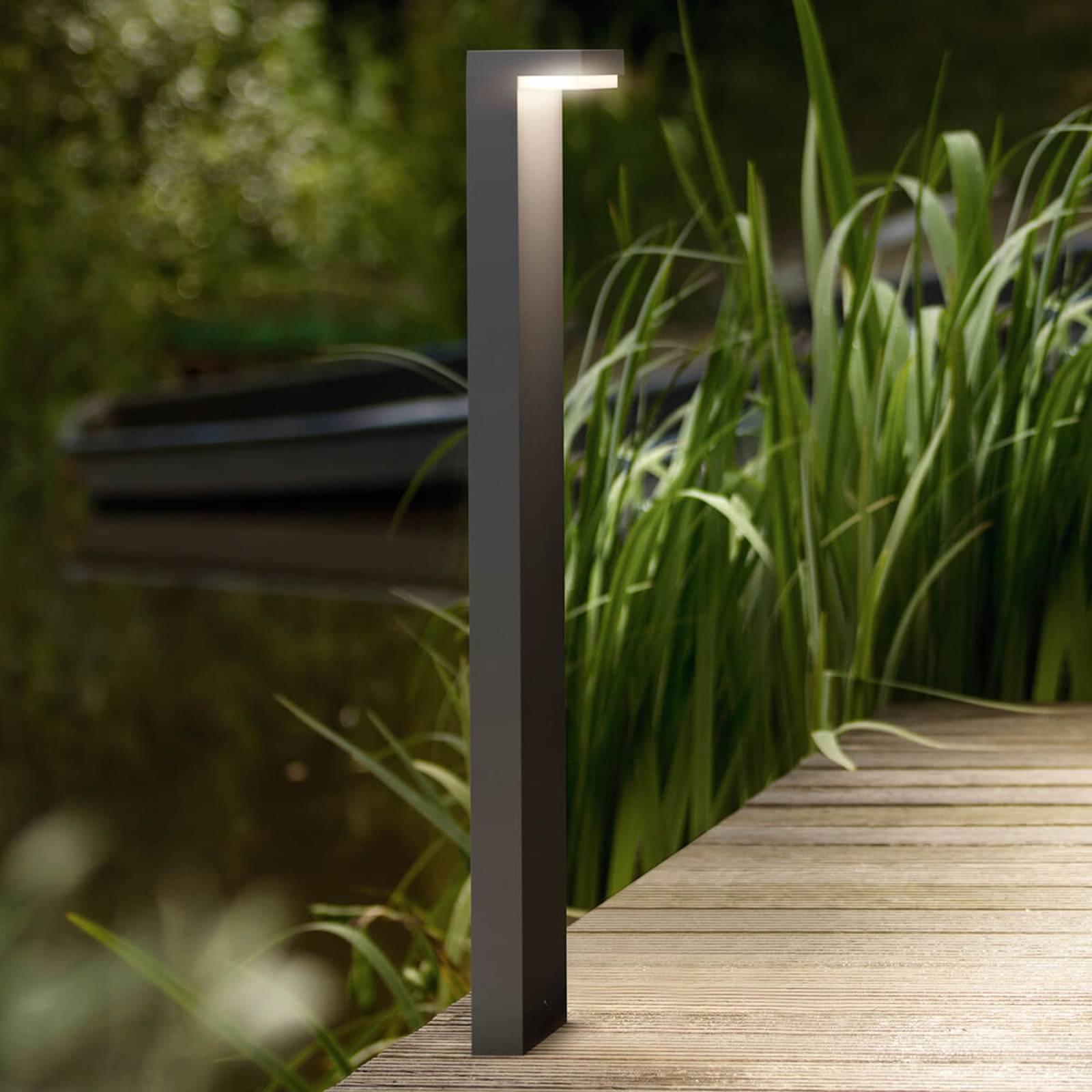 L:n muotoinen LED-pylväsvalaisin Bustan alumiinia