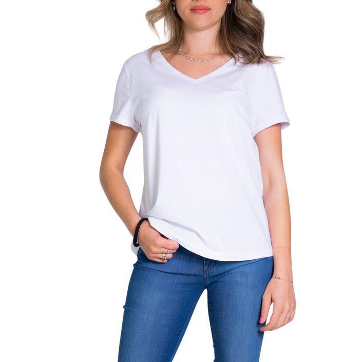 Ea7 Women's T-Shirt White 283886 - white L