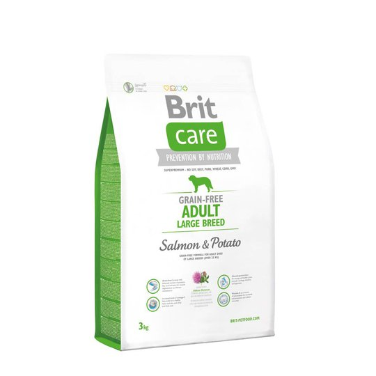 Brit Care Grain-free Adult Large Salmon & Potato (3 kg)