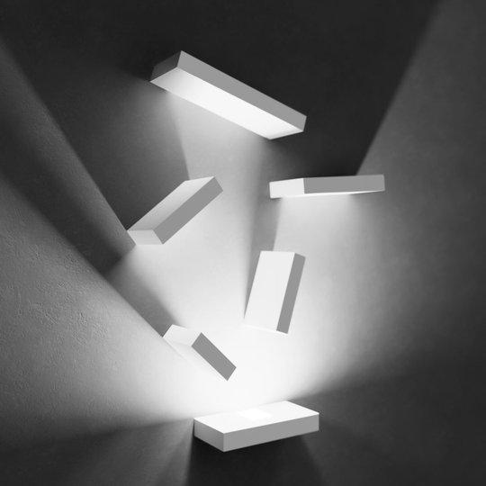 Kiehtova LED-seinävalaisin Set