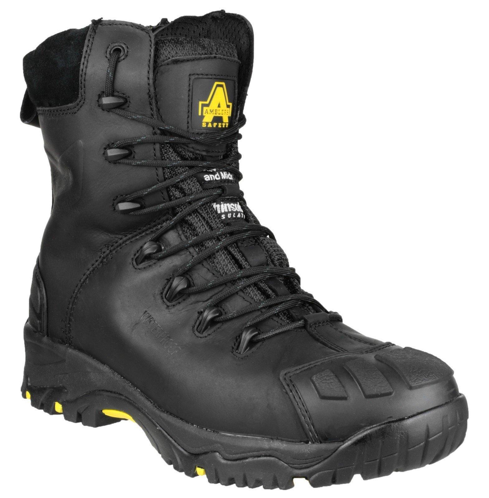 Amblers Unisex Safety Hi Leg Side Zip Boot Black 24868 - Black 4
