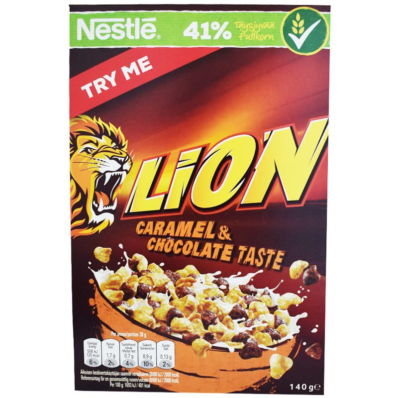 """Frukostflingor """"Lion"""" 140g - 33% rabatt"""