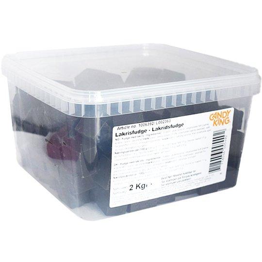 Laatikollinen makeisia - Lakritsifudge 2 kg - 50% alennus
