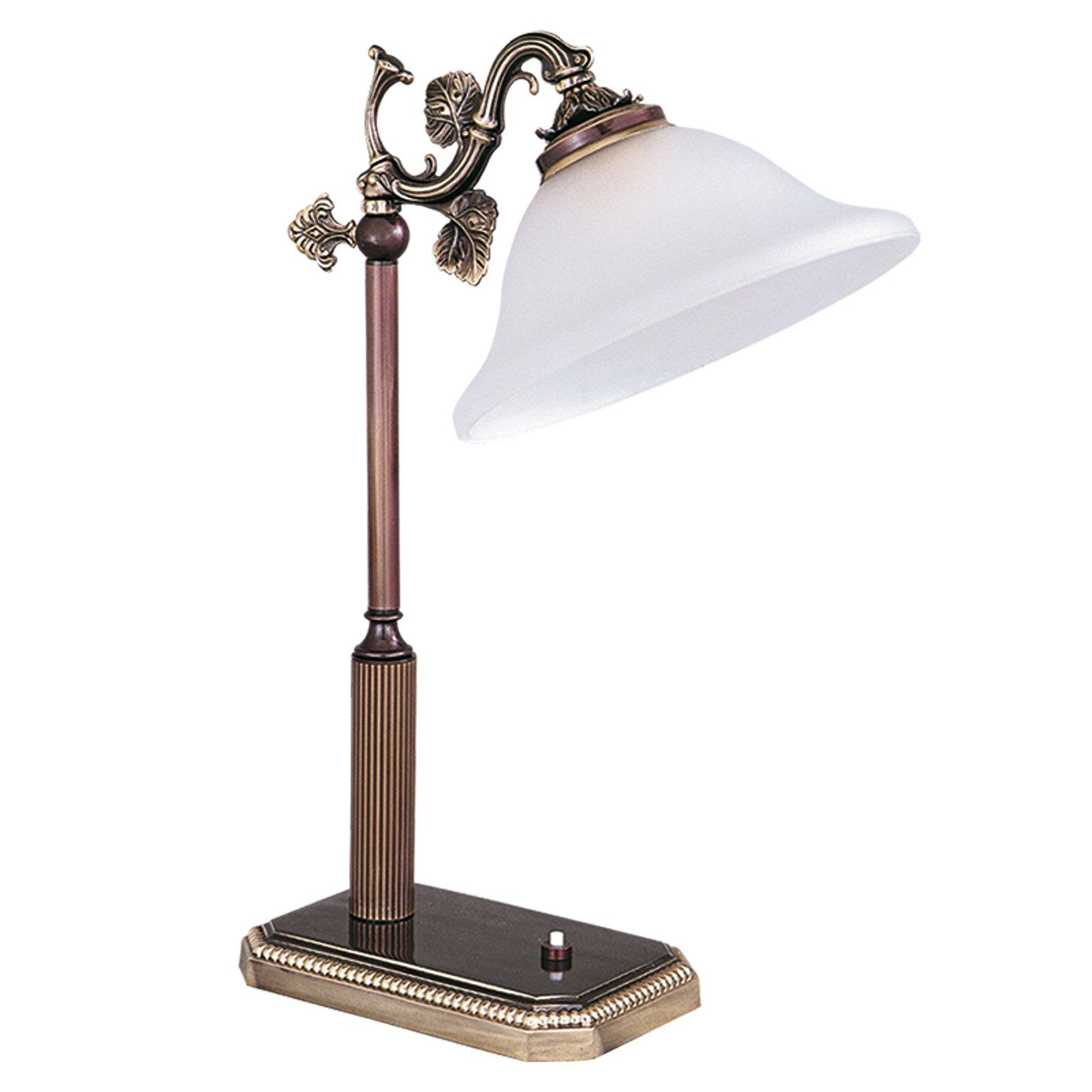 Vakker bordlampe fra serie RIALTO, hvit