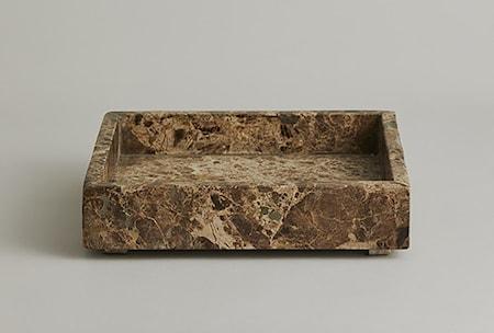 AYU Marmor Bricka Large square Brun