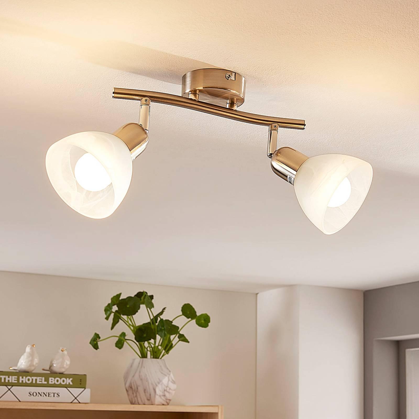 2-lamp. LED-kattovalaisin Paulina, nikkelinvärinen