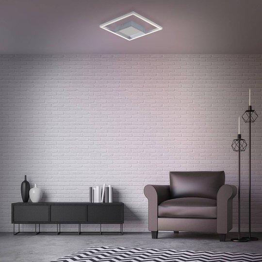 LED-taklampe Frames, 1 kvadrat