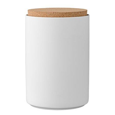 Boks med lokk Hvit Porselen 11x16cm