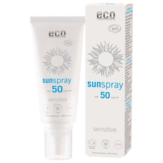 Eco Cosmetics Ekologisk Solspray SPF 50 Sensitive, 100 ml