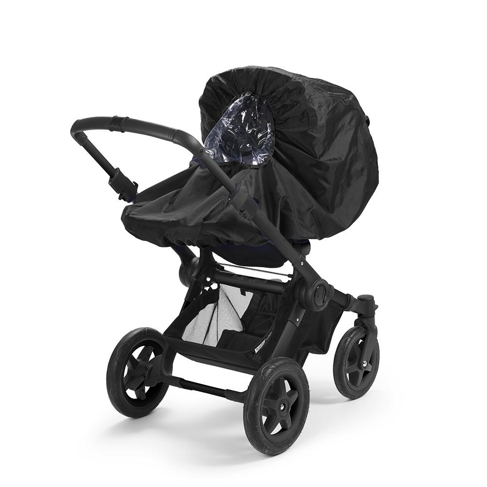 Stroller Rain Cover - Brilliant Black