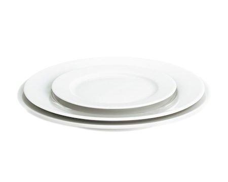 Sancerre tallerken flat hvit, Ø 17 cm